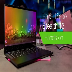 "Razer Blade Stealth 13 Core i7 10th Gen 13.3"" FHD Gaming Ultrabook with GTX 1650 4GB Graphics"